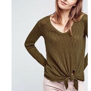 3/$20 Life of Center Sweater Tie front Top